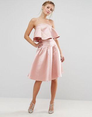 Chi Chi London Occasion Midi Skirt in Satin Co-ord