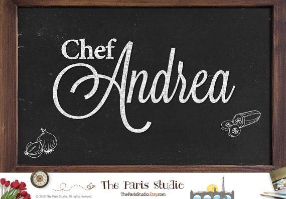 Vintage Chalkboard Text Logo Custom Logo Design Boutique Restaurant Logo Website Logo