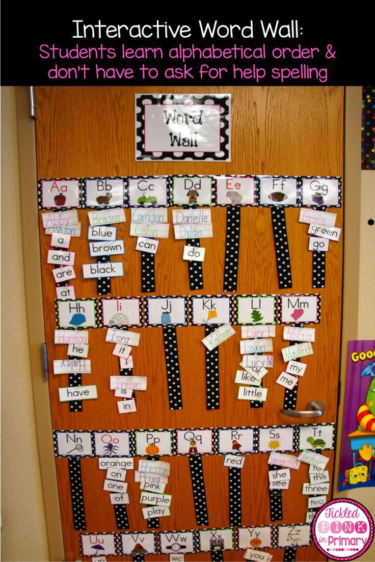 Interactive word wall w/ribbon!