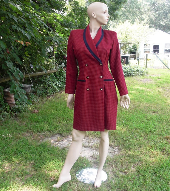 80's Red and Navy Checked Coat Vintage Dress by by gottagovintage1, $35.99: 80 S Red, 80 S Dresses, 80S Dresses, Vintage Dresses, Dresses Vintage, Check Coats, Dresses Shirts, Dresses Red, Coats Vintage