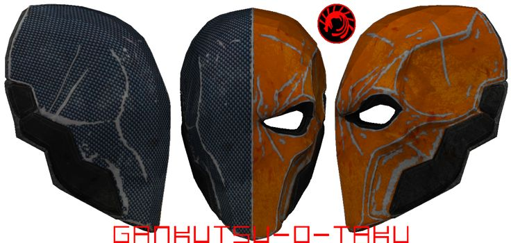 A closer look at Deathstroke's mask to study the shape