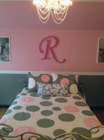 Pretty In Pink Pink And Gray Girls Bedroom Room Entrance Girls Rooms Design