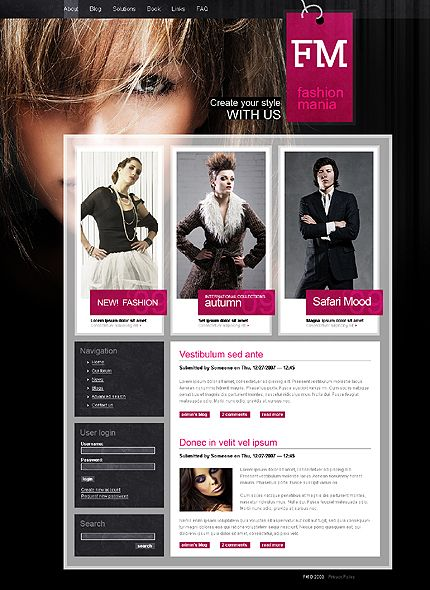 FM Fashion Drupal Templates by Mercury