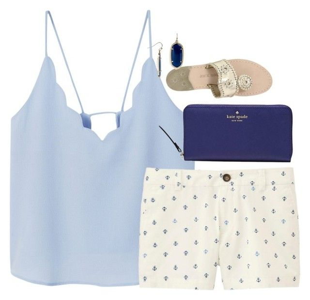 """""""Untitled #1150"""" by southernstruttin ❤ liked on Polyvore featuring MANGO, Uniqlo, Jack Rogers, Kate Spade and Kendra Scott"""