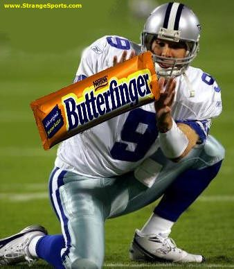 "dallas cowboys jokes | DALLAS COWBOY QB ROMO GETS ""BUTTERFINGER"" AWARD FOR 2006 NFL SEASON"