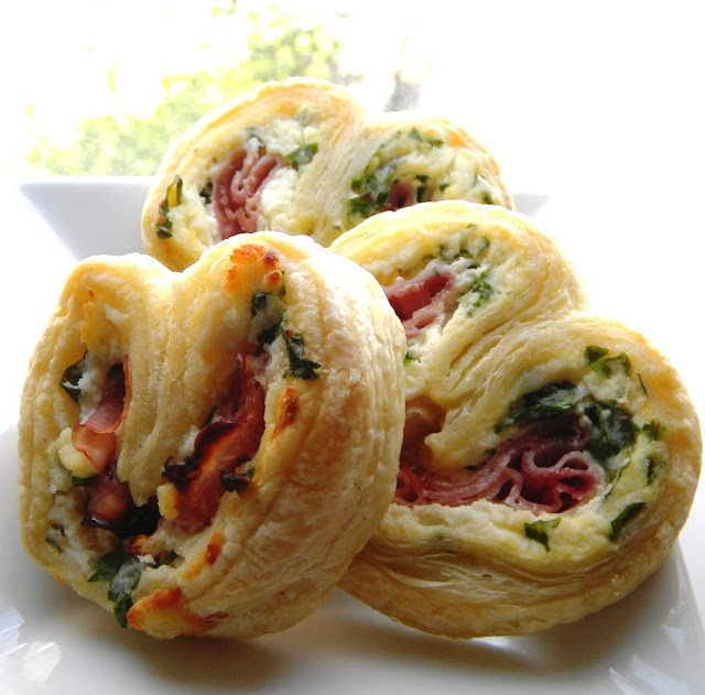 Italian Easter Pie Palmiers- lighter version of the pizza rustica a/k/a Easter Pie