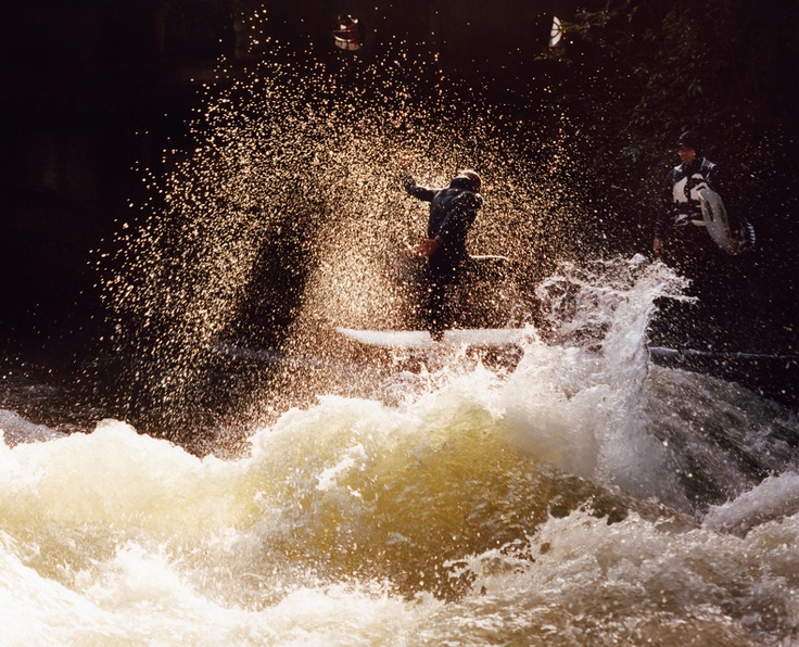Thomas Prior, the Eisbach.   People surf downtown Munich. I've been there it's amazing!