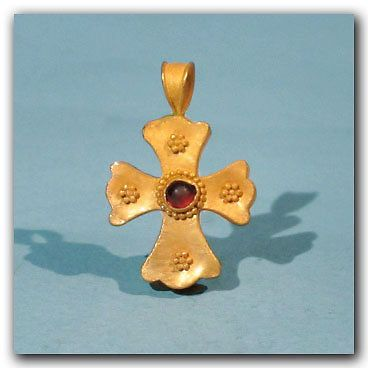 Byzantine Gold and Garnet Cross, c. 10th-11th Century A.D. | Antiques, Antiquities, Byzantine | eBay!