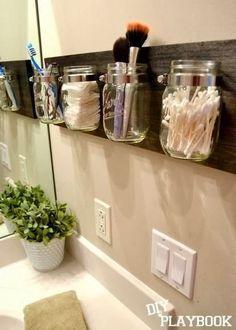 4. Bathroom _____________________________ *Good Idea for organization but hidden _____________________________  Idea para guardar artculos de tocador, organizacin de baos / Home organization tips #HomeDecorIdeas  #HomeDecor #decorupon