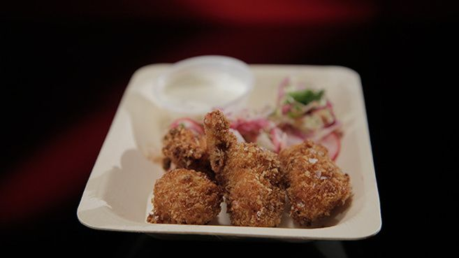 Popcorn Chicken and Ranch Dipping Sauce (mkr 2015)