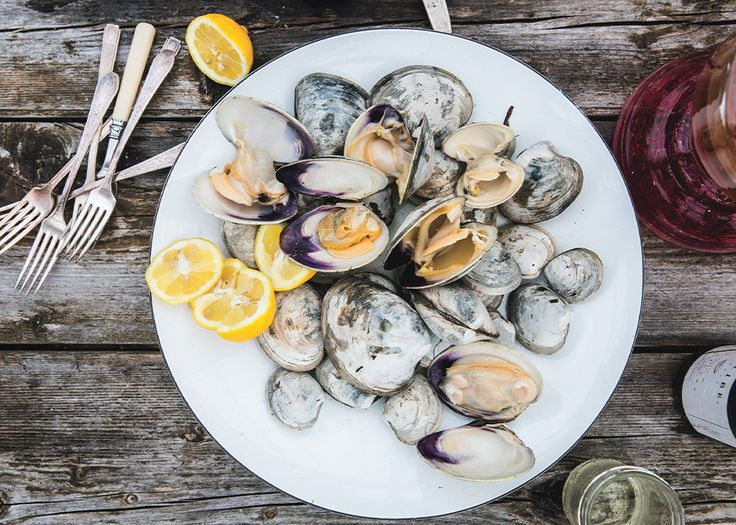 Beer-Steamed Clams - Bon Appétit made with Cisco Brewers Summer of Lager is simply delicious!
