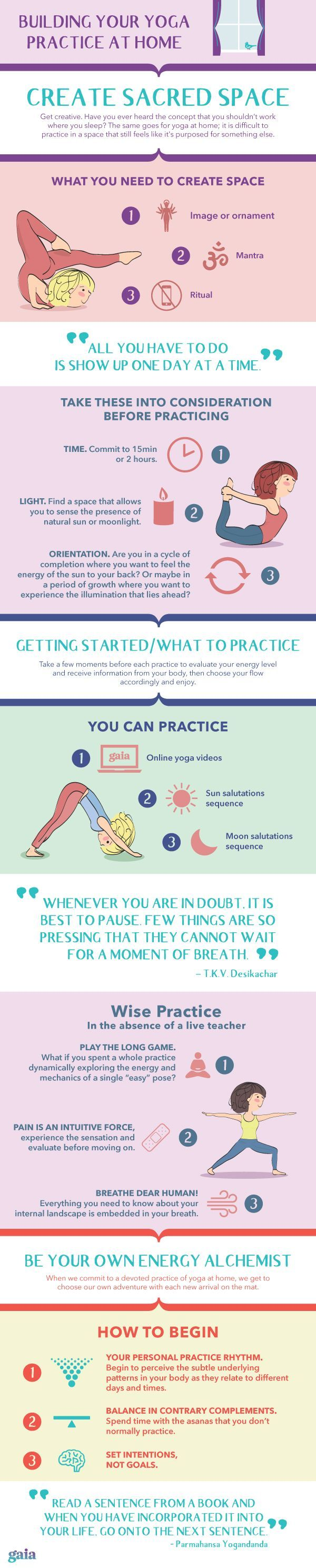 How to get started with a yoga practice at home.
