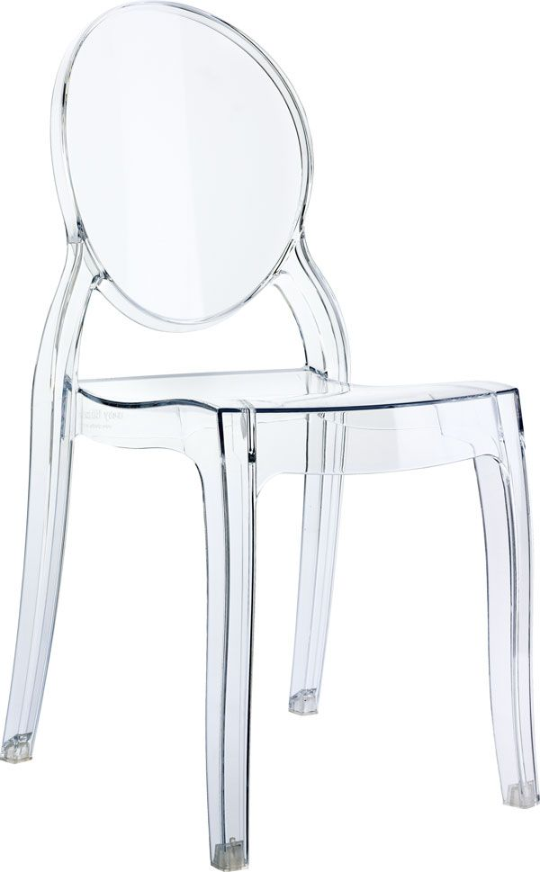 Lasten kalusteet - läpinäkyvä tuoli