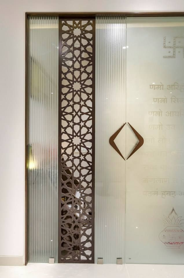 Mandir glass door