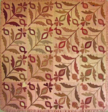 Wild Pomegranate, pattern by Blackbird Designs.