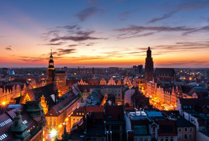 Wrocław, the European Capital of Culture 2016, at night