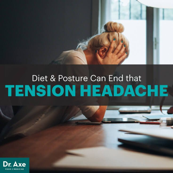 Tension headache - Dr. Axe http://www.draxe.com #health #holistic #natural
