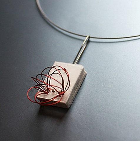 Aluminium design necklace by wandadesign on Etsy, €52.00