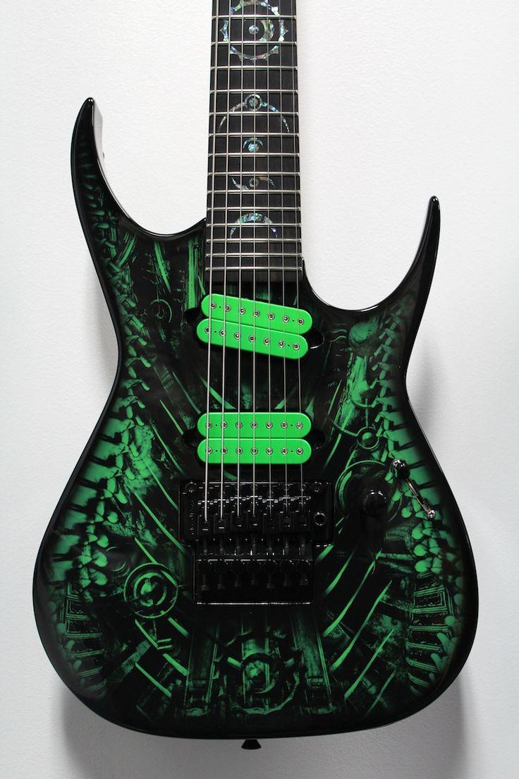 """Green Xenocide"" Custom Shop 7-String Dean RC7"