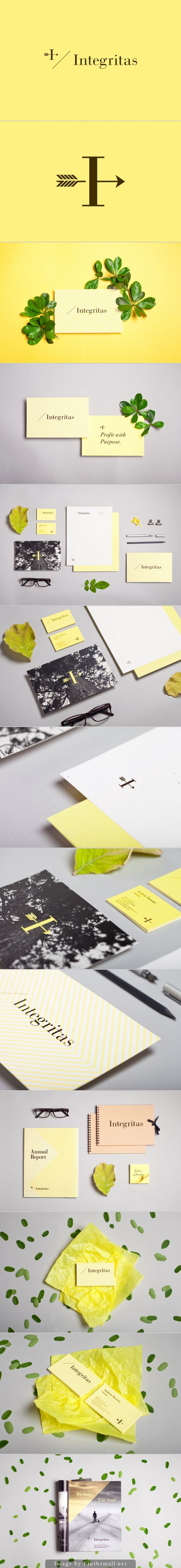 Branding stationary corporate identity business card letterhead cup bag packaging napkins logo type minimal yellow black pattern graphic design