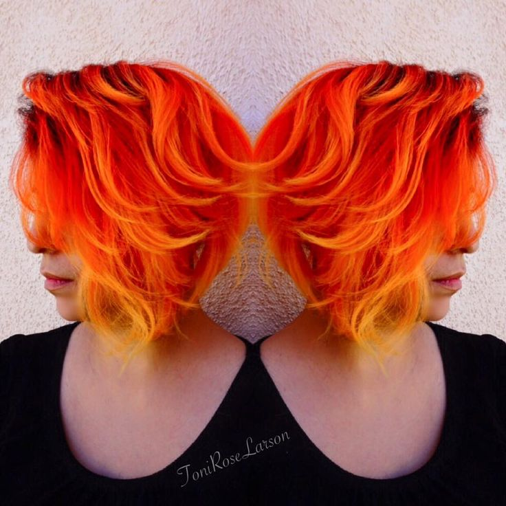 She's on Fire orange hair color