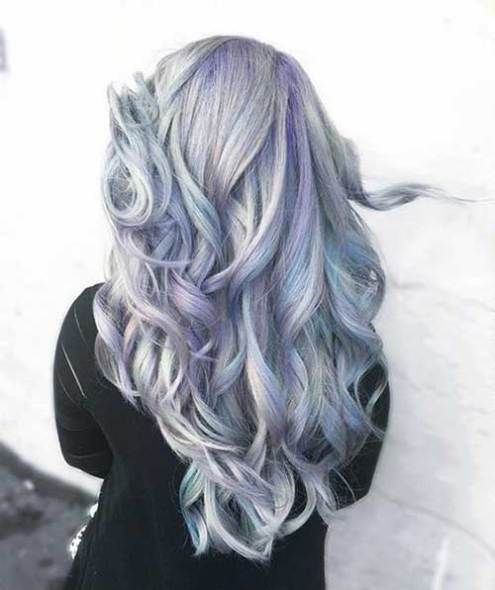 9aeabe74486 Trend Alert  15 Holographic Hair Colors for Long Hair