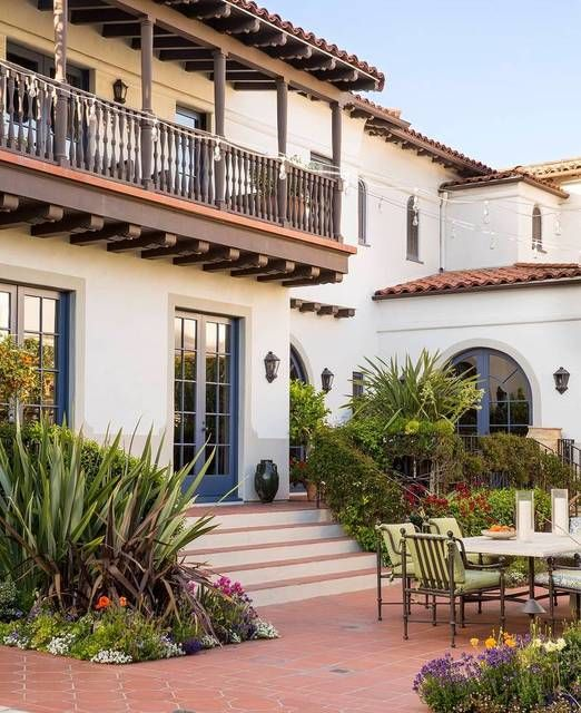 25 best ideas about spanish colonial on pinterest for Spanish revival exterior paint colors