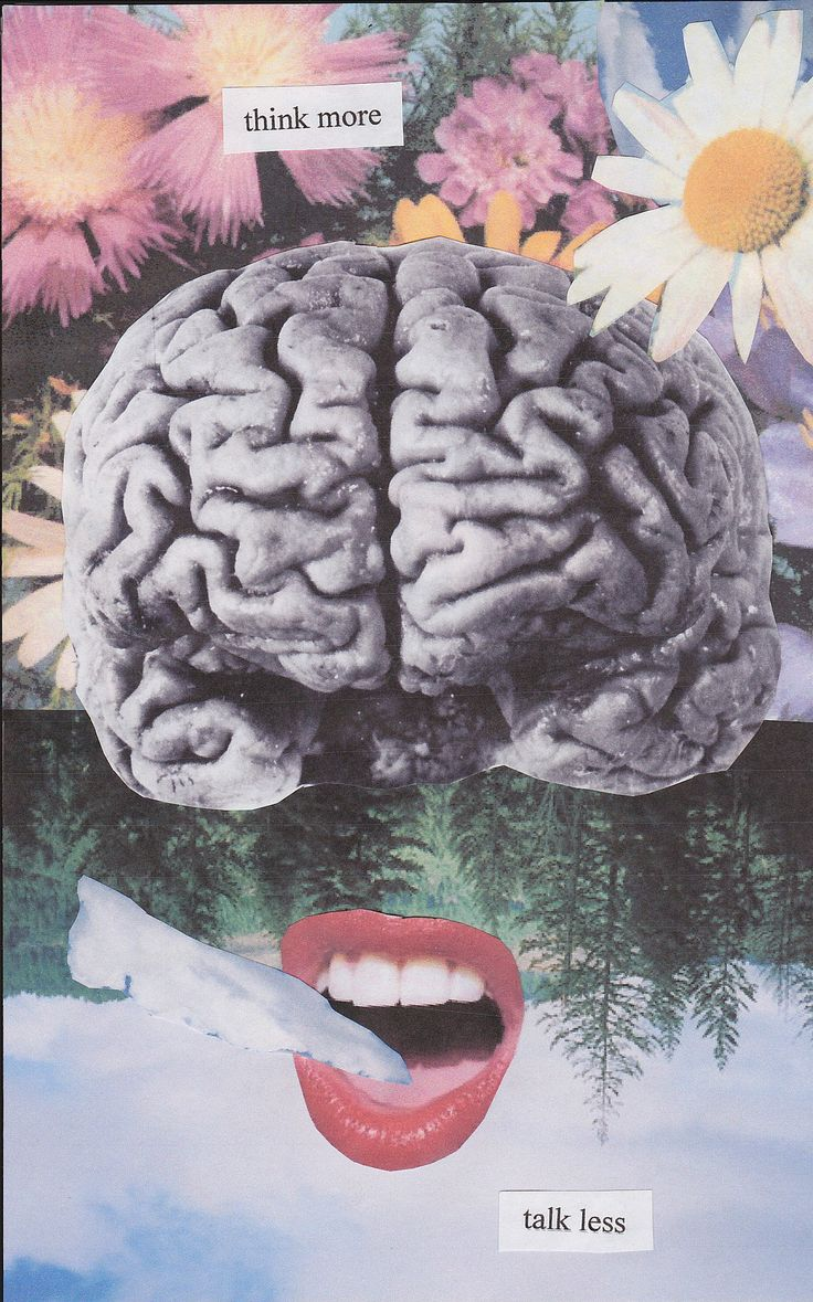 Think more, talk less  Source: thecollectivecollage    #anatomy #brain #lips
