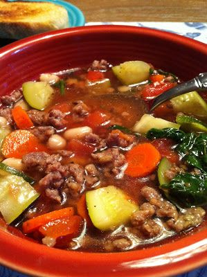 Super Easy Italian Sausage Soup - Feeding Big  ☀CQ #soup   http://www.pinterest.com/CoronaQueen/soups-stews-and-chili/