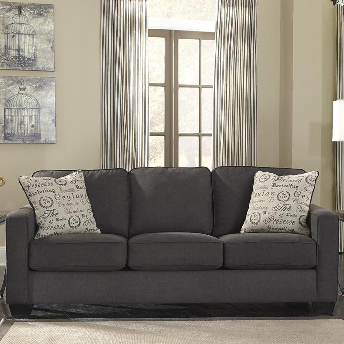 Alenya Sofa in Charcoal | Nebraska Furniture Mart
