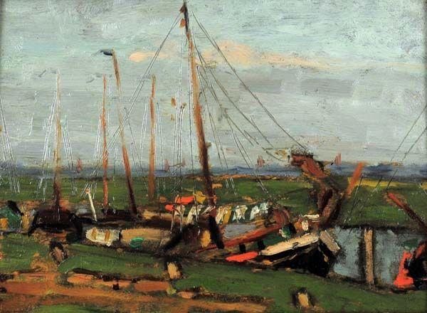 John Young JOHNSTONE - Ships, Beaupré (1912)