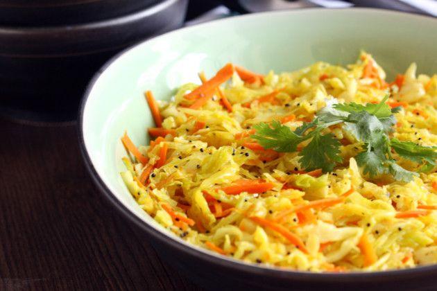 Cabbage Stir Fry full of tasty Indian flavors #vegetarian