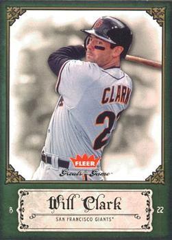 2006 Fleer Greats of the Game #97 Will Clark Front