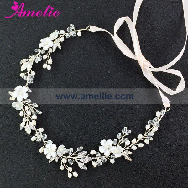 Free Shipping Gold and Silver Enamel Flower Wedding Hair Accessories Bridal HeadBand Wedding Tiara Bridal Diadem Bridal Wreath