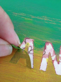 DIY Canvas Art Cool idea. Paint a certain way, allow to dry, put peel stickers on then peel the letters. Precious and a good way to mix it up!