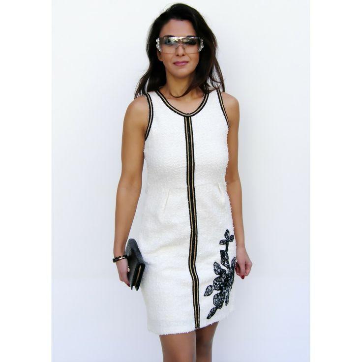 White Gayomba Smash Dress