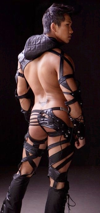 .: Ninjas Warriors, Asian Men'S, Man Warriors, Leather Stripes, Outfit, Men'S Of Swag, Awesome Leather, Pretty Hott, Photo Art
