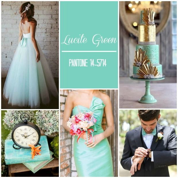 Pantone Colour Report: LUCITE GREEN Spring 2015 | Weddings see more at http://www.wantthatwedding.co.uk/2014/09/23/pantone-colour-report-spring-2015-weddings/