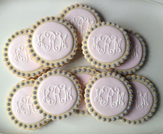 Best 25+ Monogram cookies ideas on Pinterest   Bird ...