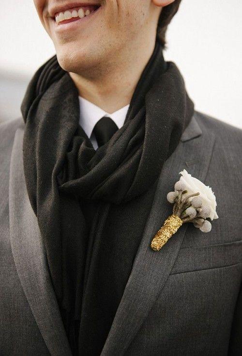 37 Cool Winter Wedding Groom's Attire Ideas Weddingomania | Weddingomania