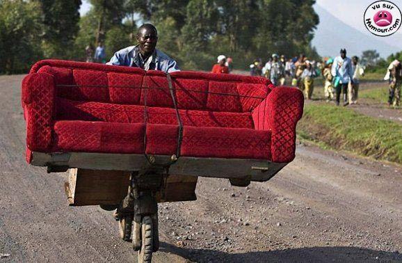 Déménagement du canapé ! ou transport en commun ?