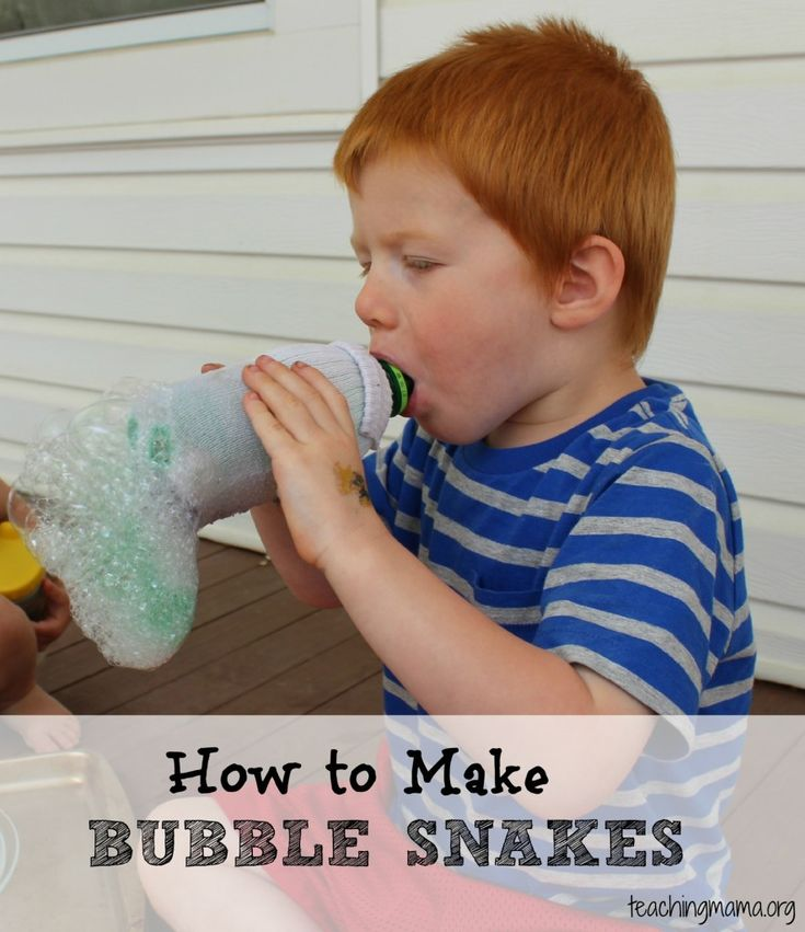 How to Make Bubble Snakes