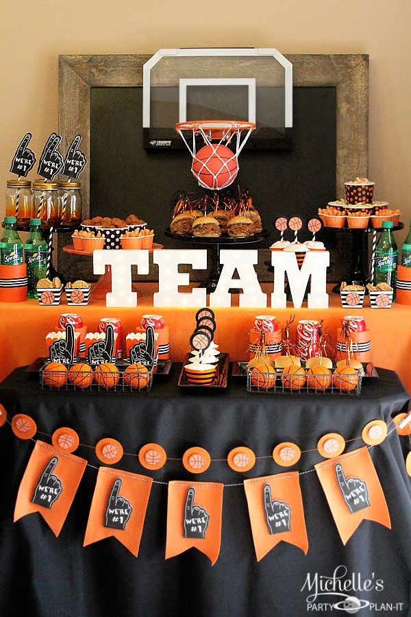 Munch Madness | Basketball Party Ideas - Michelle's Party Plan-It  #basketballmadness AD