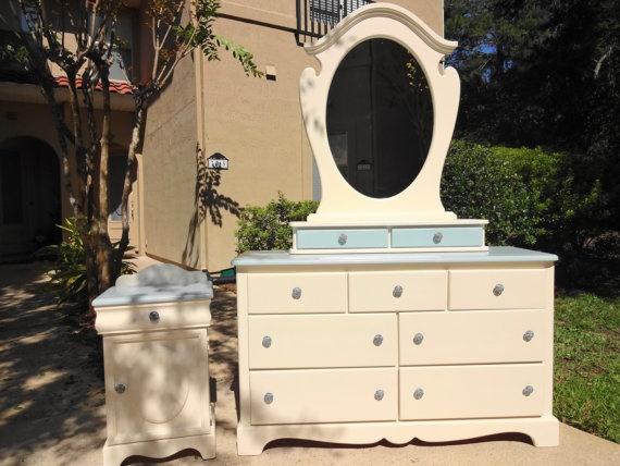 Custom Painted Solid Wood Bedroom Furniture by SimplySonjas