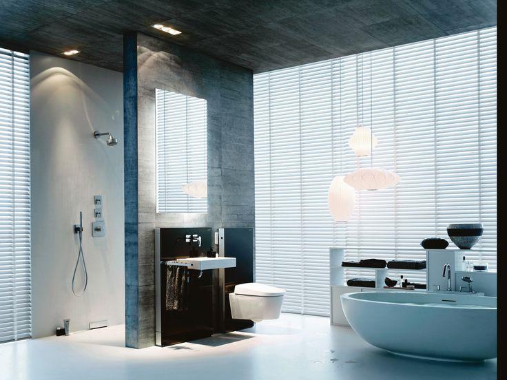 25 Designtrends: Monolith (Geberit) – die perfekte Verbindung aus Funktion und Design – kann sich sowohl in einem Neubau als auch in einem renovierten Bad sehen lassen. So müssen vor der Montage keine baulichen Veränderungen vorgenommen und keine Wände aufge- stemmt werden. Bestehende Abwasser- und Wasseranschlüsse können direkt übernommen werden. Unkomplizierter lässt sich ein modernes und formstarkes Badezimmer nicht realisieren.
