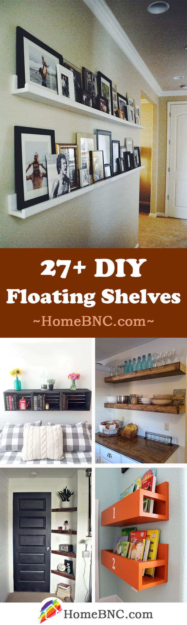 DIY Floating Shelf Decor Ideas: Floating shelves get the job done, look more modern, and take up minimal space. All you need to get started with this diy project is a free wall, some diy floating shelf ideas, and the minimal tools required. Floating shelves can be as simple as a piece of beautifully stained wood that hangs on your wall and appears to 'float.