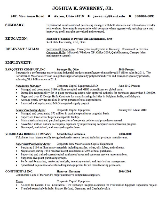 Insurance Manager Resume Manager Resume Samples Pinterest - purchasing agent job descriptions