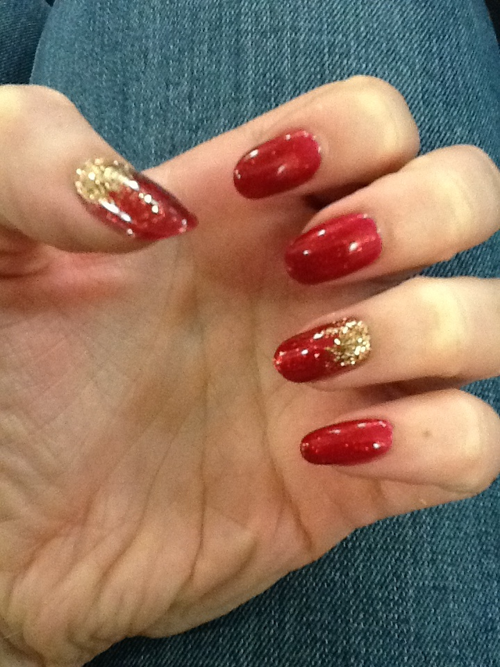 Ruby Ritz with antique gold additive