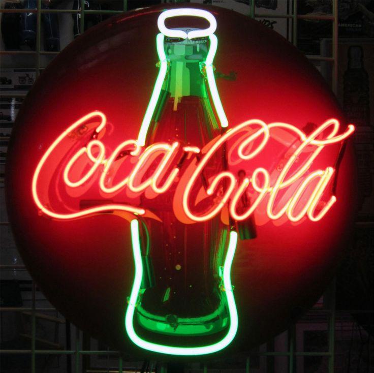 """Original Coca-Cola 24"""" Round Button Neon (circa 1950's)   Collectibles, Advertising, Soda   eBay!"""