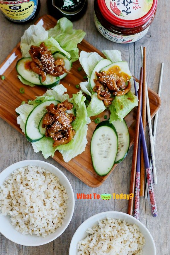 The 300 best food photography images on pinterest kitchens clean korean chicken with lettuce wrap korean recipesindian food forumfinder Image collections